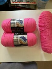2 Skeins of Acrylic Pink Yarn