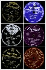"""6x """"Jukebox-Hits"""" zum Sonderpreis, diverse Hits auf Schellackplatte 78rpm Set161"""