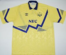 1990-1992 EVERTON UMBRO AWAY FOOTBALL SHIRT (SIZE XL)