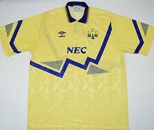 1990-1992 EVERTON UMBRO AWAY FOOTBALL SHIRT (SIZE XL)