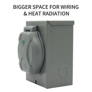 Outdoor Use RV 30A Generator Power Inlet Box W/ LED Light 125V/250V 7500 Watts