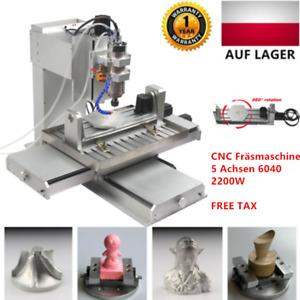 5 Achsen CNC Fräsmaschine 6040 2200W Graviermaschine Fräsen 3D Router USB Gravur