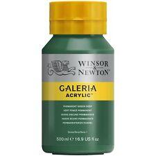 Pintura Acrilica Galeria, Botella De 500 Ml, Verde Permanente Deep