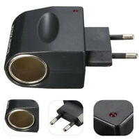Premium AC To DC 12V 220V Wall Power EU Plug Car Cigarette Lighter AdapterWTUS