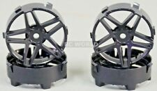Tetsujin SOUTHERN CROSS RC Car Wheels BLACK Adjustable Offset 3-6-9mm -4 RIMS