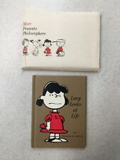 Lucy Looks at Life Charles M Schulz Hallmark Book W Envelope 1967 Charlie Brown
