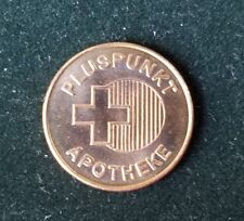 VERY RARE TOKEN GERMANY GERMAN APOTHEKE PHARMACY 1 PLUSPUNKT MEDICINE MEDAL
