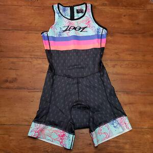 ZOOT Womens Large Tri Suit Custom Back Zip Racesuit Flora Sleeveless Rear Zip L