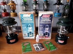 COLEMAN 214 x 2 Lantern/Lamp Combo Paraffin/Kerosene & Boxes