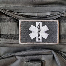Star of Life Medical EMT Paramedic Militray Tactical Embroidered Hook Patch Dark
