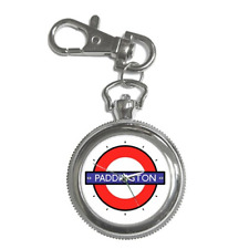 PADDINGTON STATION LONDON TUBE UNDERGROUND NOVELTY KEYCHAIN WATCH *SUPERB GIFT*