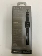 Nomad NM1A41BT00 Classic Strap Leather for Apple Watch 42mm and 44mm - Black