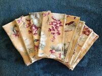 """Dinner Napkins 17"""" x 17"""" Grapes Grape Leaf Napkins Floral x8"""