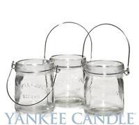 Yankee Candle Mini Canning Jar (Set Of 3) Tea Light Candle Holder Mason Jars NEW
