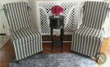 Pottery Barn Chair Veranda Stripe Slipcovers - Set of 2