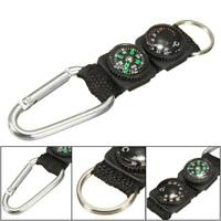 3 in 1 Multifunction Camping Hiking Carabiner w/ Keychain Compass Thermometer