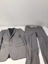 Perry Ellis Gray LINED Two Piece Suit Set Boys Youth Size 8