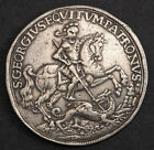 1690s-1750s, Kingdom of Hungary. Silver St. George Show Thaler Coin. 28.18gm!