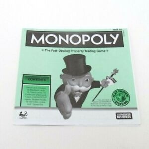 2008 Monopoly Play Faster Replacement Instructions Rules