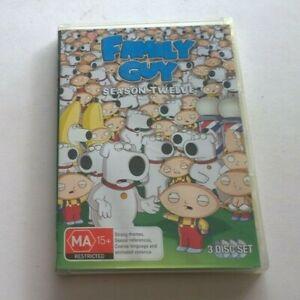 Family guy season 12  dvd clean disk Australian release
