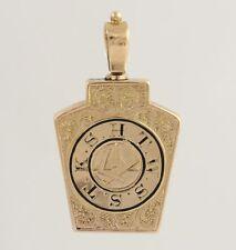 York Rite Royal Arch Vintage Fob Pendant - 12k Yellow Gold Antique Masonic Men's