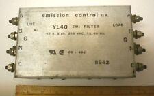 EMI/RFI Filter, 40A, 3PH, 250V AC, 50/60 HZ, Emission Control Ltd,