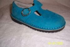 (Gorgeous)Stride Rite Turquoise Blue Suede Buckle Girls MaryJane Size 11.5 M