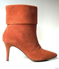 new CHARLES DAVID brown suede pointy toe ankle BOOTS 8.5 - classy