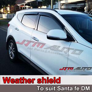 Weathershields Weather Shield Window Visor to suit Hyundai Santa Fe DM 2012-2017