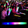 Light-Up Foam Sticks LED Rally Rave Cheer Tube Soft Glow Baton Wands Party Acces