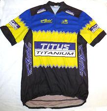 vtg Aussie TITUS TITANIUM Cycling Jersey XL 90s Avid Racing Team distress