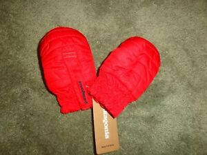 Patagonia Baby Infant Puff Mitts Mittens Gloves RAMBLE RED 6-12m NWT msrp $39