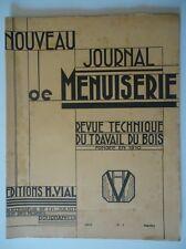 Nouveau Journal de Menuiserie/Revue Technique du Travail du Bois/n°1 1953