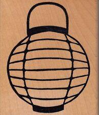 "stylized lamp hot potatoes Wood Mounted Rubber Stamp  3 1/2x 3""  Free Shipping"
