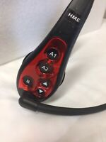 USED HME HS6000 RED Wireless Drive Thru Intercom Headset Works Great w/ Battery