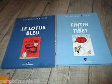 Vente Hergé-Tintin-Lot Les archives Tintin-Le lotus bleu+Tintin au Tibet