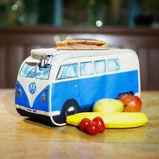 VW Volkswagen Split Screen Kombi Bus Camper Van Insulated Lunch Bag Lunchbox BLU