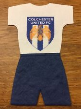 Craft Clearout 10 x Mulberry FOOTBALL KIT Team Toppers COLCHESTER UNITED FC BNIP