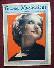 Cinema Illustrazione 1937 XII n° 49  Germana Paolieri    23/12