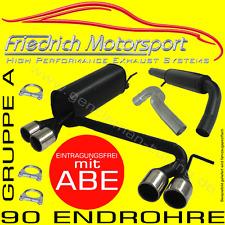 FRIEDRICH MOTORSPORT DUPLEX AUSPUFFANLAGE Opel Corsa C 1.0 1.2 1.3 1.4 1.7 1.8
