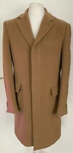 Mens M&S Collection Marks & Spencer Luxury Wool & Cashmere Tan Overcoat Medium
