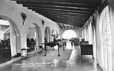 Hall Del Hotel Ruiz Galindo Fortin de las Flores, Mexico RPPC ca 1940s Postcard