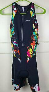 ZOOT Women's Ultra Tri Racesuit Carbon Chamois Ultra Sunburst Size: M - NEW