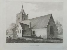 1809 antica stampa; St Mary's Church, Hayes, Londra