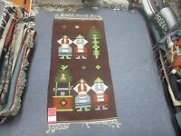 NWT NEW Russian Folk Art Kilim Hand Knotted Wool Tapestry 3/'-5 x 1/'-9 Gray