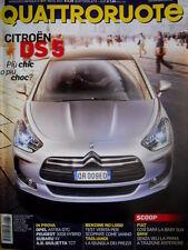 Quattroruote 677 2012 Citroen DS5. Fiat: così sarà la baby Suv. Giulietta [Q82]