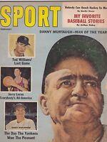 FEB 1961- SPORT vintage sports magazine - TED WILLIAMS