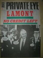 PRIVATE EYE MAGAZINE No 808 DECEMBER 4 1992 LAMONT NO CREDIT LEFT