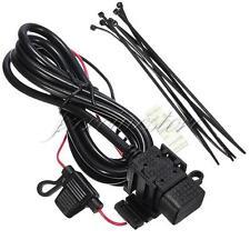 USB 12V 5V Impermeable Adaptador Cargador Cable Motocicleta Moto iPhone iPad PM3