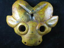 Chinese wonderful Hard Jade Mask statue #677